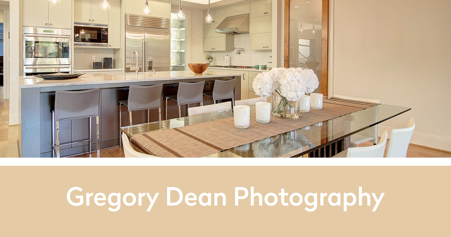 Gregory Dean Photography below one of his pictures of a newly remodeled kitchen