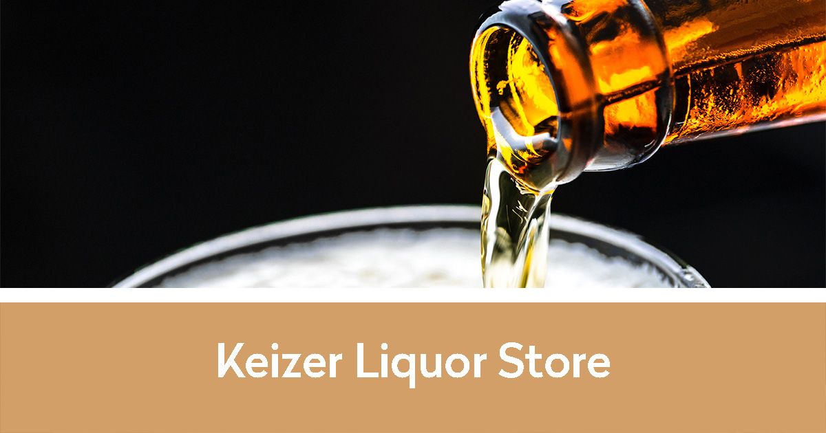 beer pouring into glass | Keizer Liquor Store