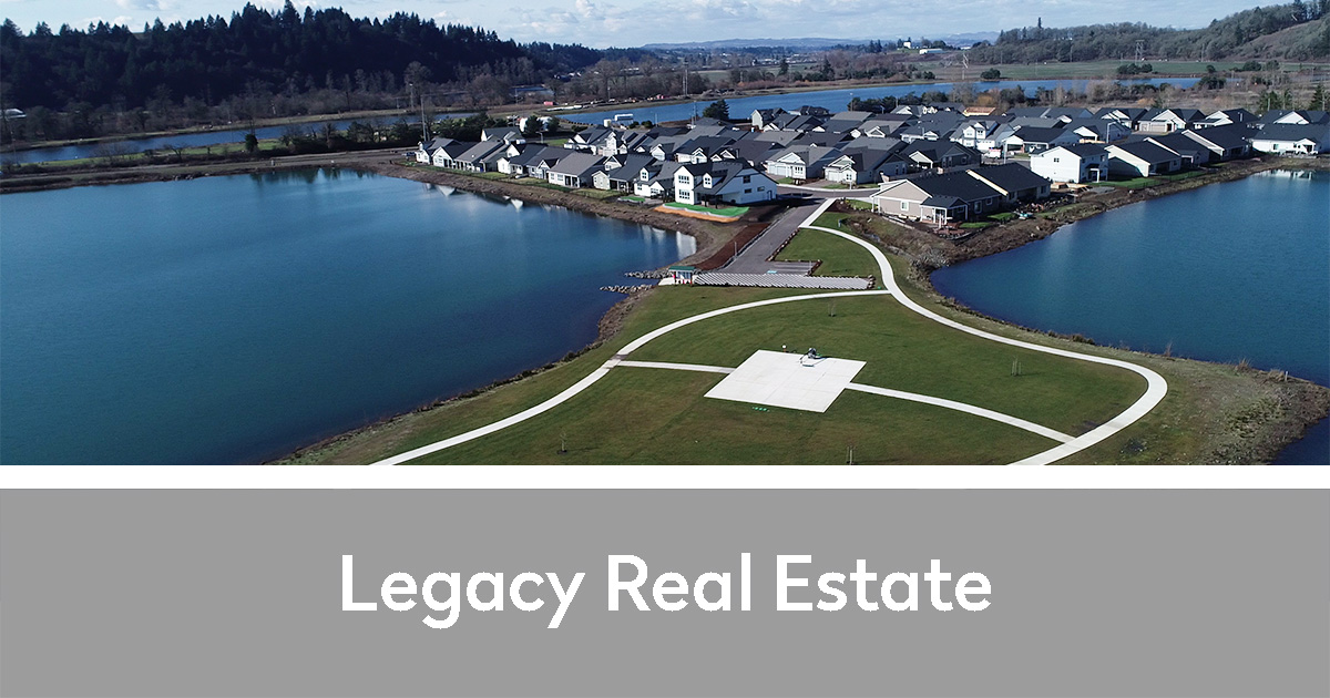 Aerial of some of Legacy Real Estate's property on/near the river | Legacy Real Estate