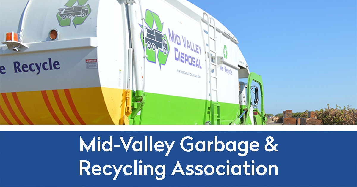 mid-valley garbage and recycling association new website built by Lewis Media Group