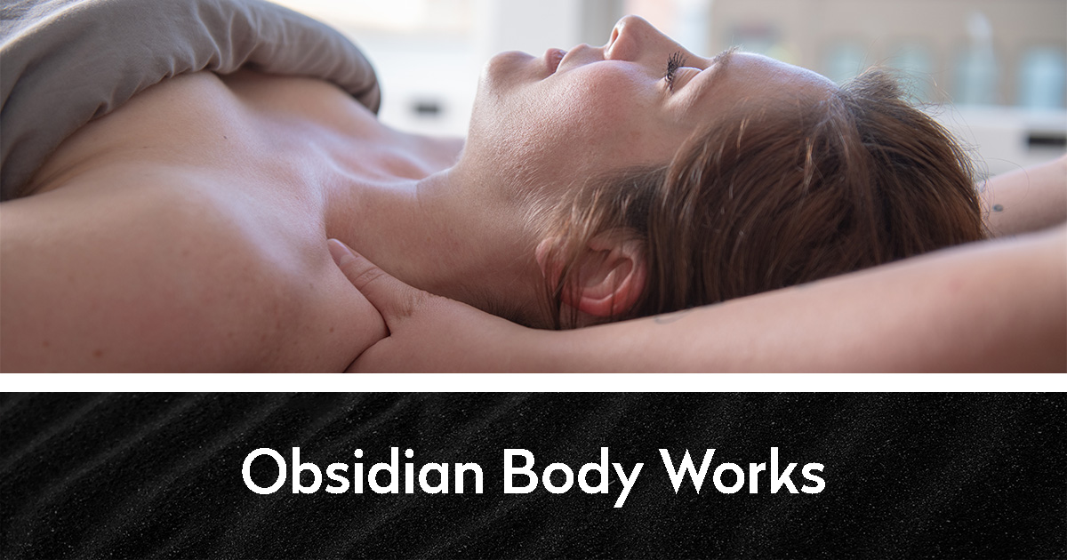 Person receiving massage | Obsidian Body Works