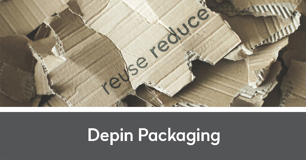 reuse and reduce written on a scrap of cardboard amidst other cardboard scraps   Depin Packaging