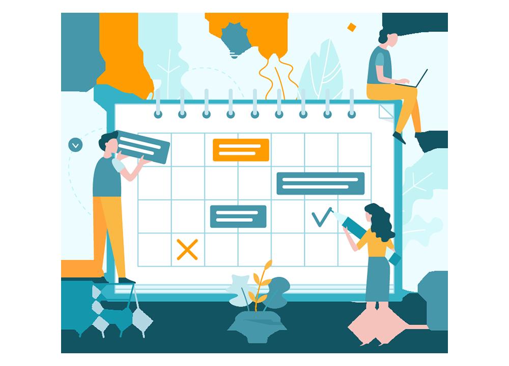 Planning Calendar Schedule Vector Illustration