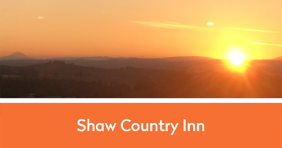Gorgeous view of sunset on the horizon | Shaw Country Inn