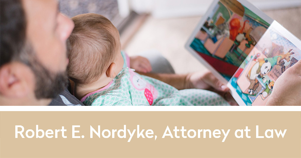 Robert E. Nordyke, Attorney at Law with a picture from his website we designed