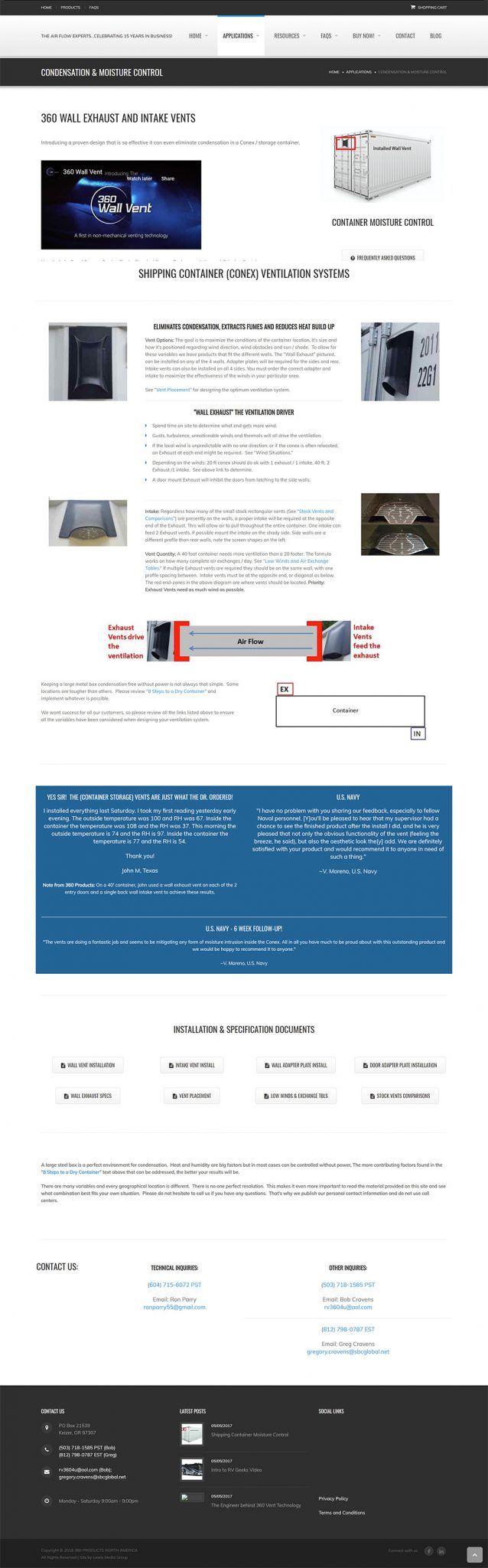 360 Products North America Condensation page before redesign