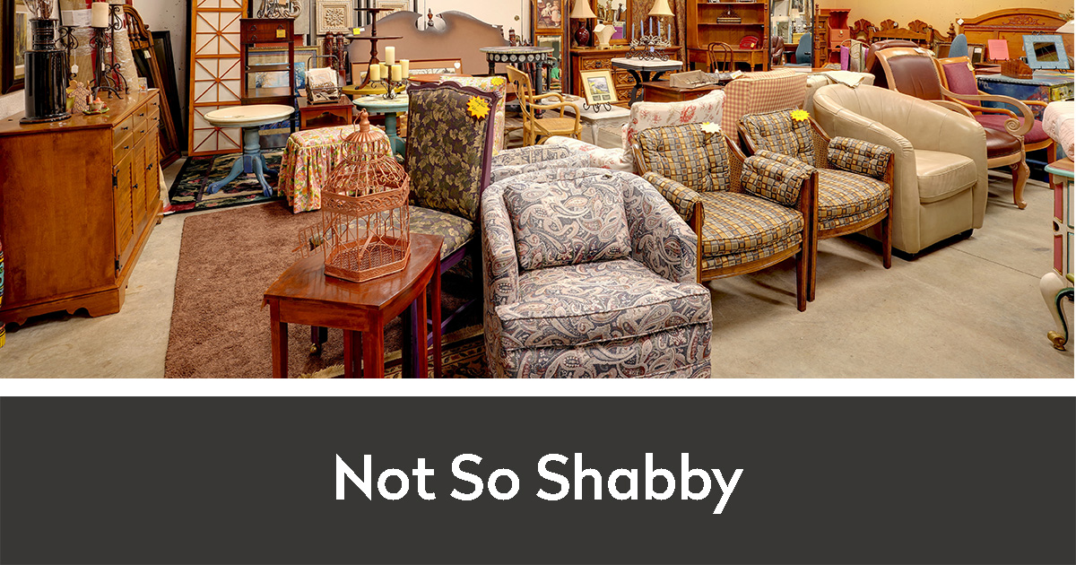 Not So Shabby interior with chairs and other upcycled furniture and decor for sale