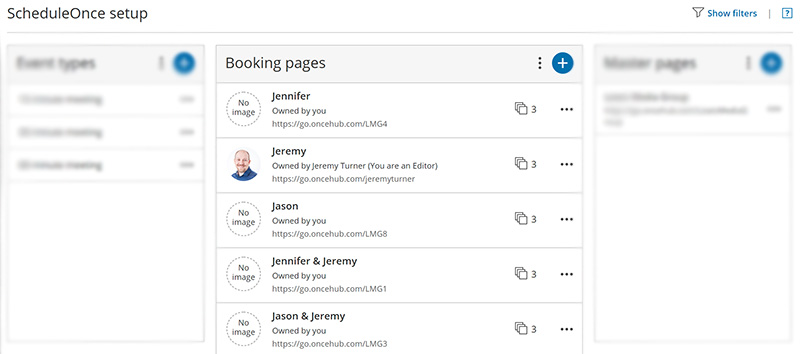 OnceHub ScheduleOnce Booking Setup Booking Pages