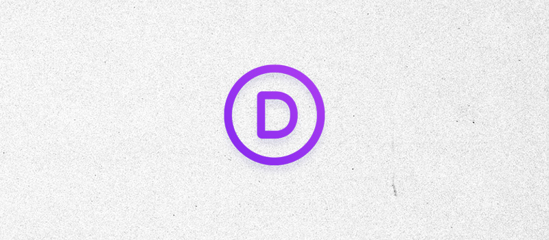 Divi logo on a textured gray background