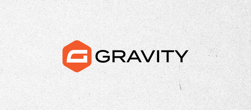 Gravity Forms logo on a textured gray background