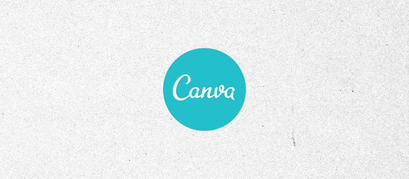 Canva logo on a textured gray background