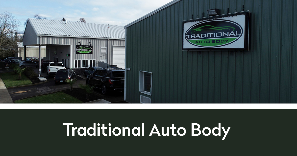 Traditional Auto Body entrance to their business